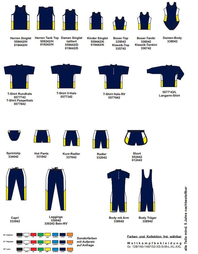 Leichtathletik Kollektion Quadro (Dreifarbig)