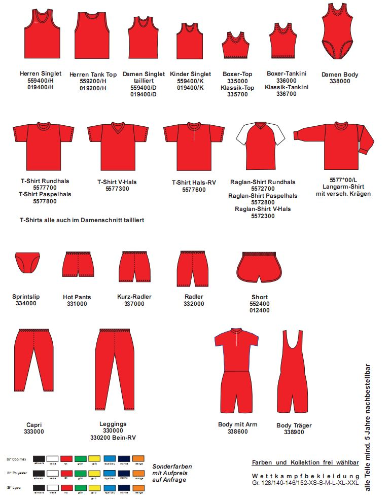 Leichtathletik Kollektion Sprint (Einfarbig)