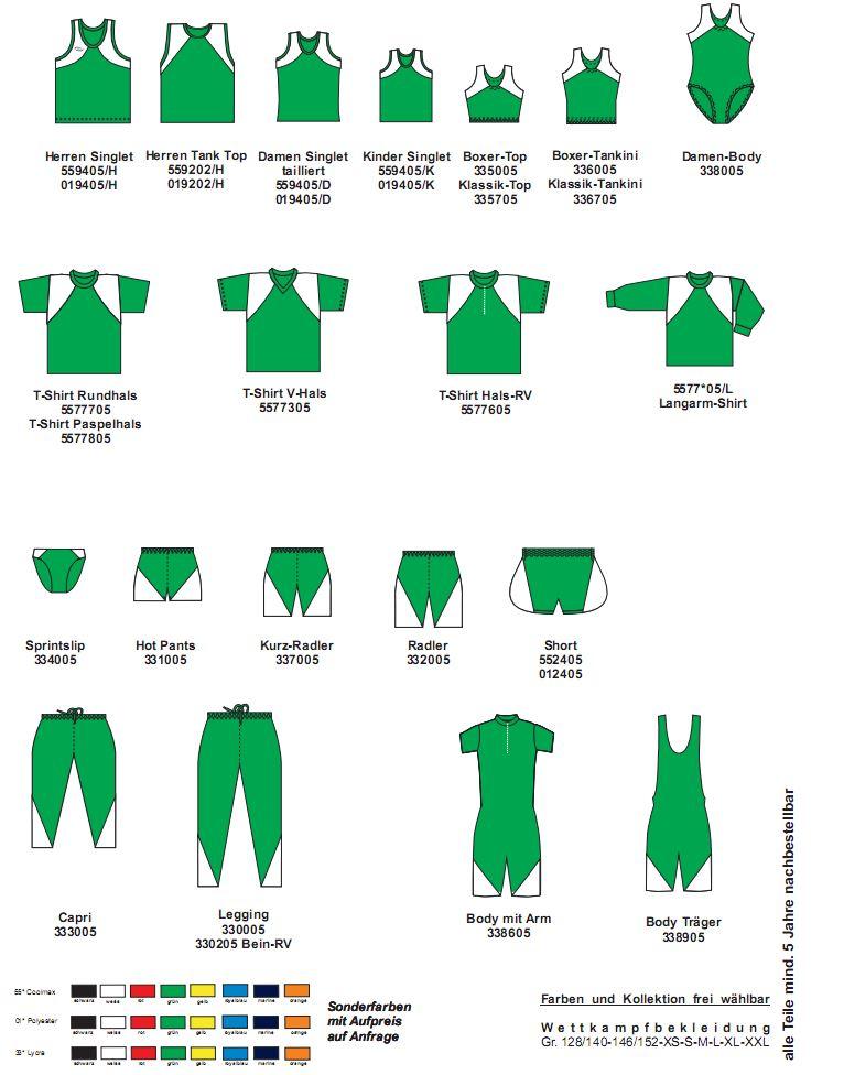 Leichtathletik Kollektion Start (Zweifarbig)
